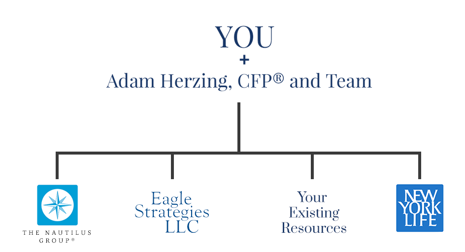 Adam Herzing organzation chart, displaying how Adam Herzing and team work with you and your existing alliances.